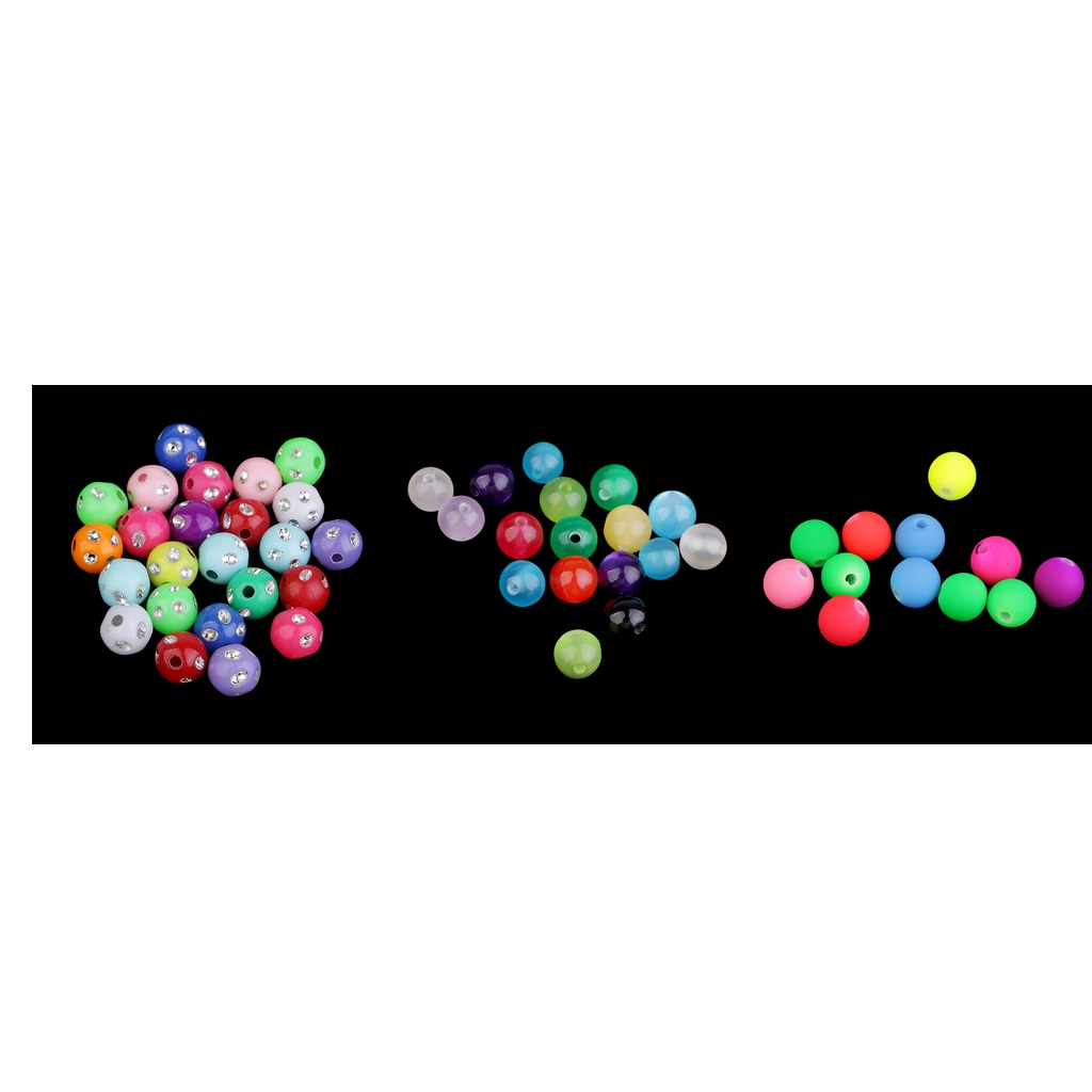 100 Pcs Colorful Big Hole Round Resin Beads Charms 8 mm Fit Jewelry Bracelet Necklace Earings Findings Making Accessories Craft