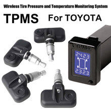 Wireless Tire Pressure Monitoring System Car TPMS for Toyota with 4pcs Internal sensor