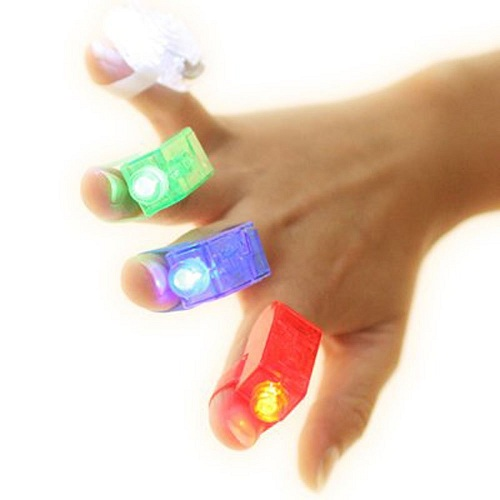 Great Children Gift 4pcs LED Finger Lamps Great Children Toy Party Dress Up Tools Colorful(China (Mainland))