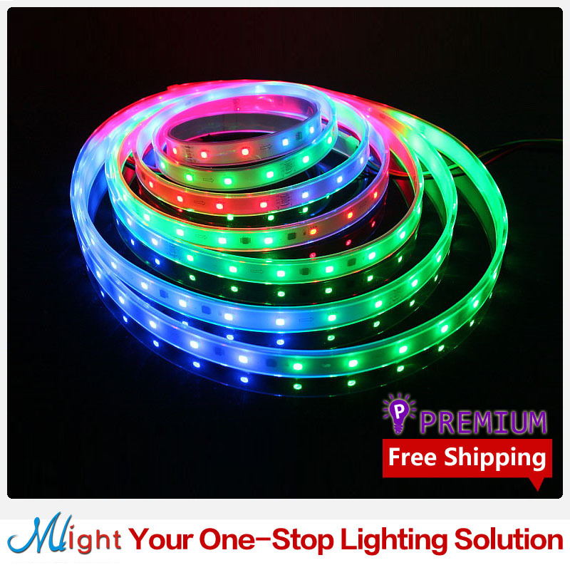 5 meters 6803 IC 5050 12V Flexible LED Strip Waterproof IP67 Outdoor Dream Color RGB Decorative LED Rope Light Strip(China (Mainland))