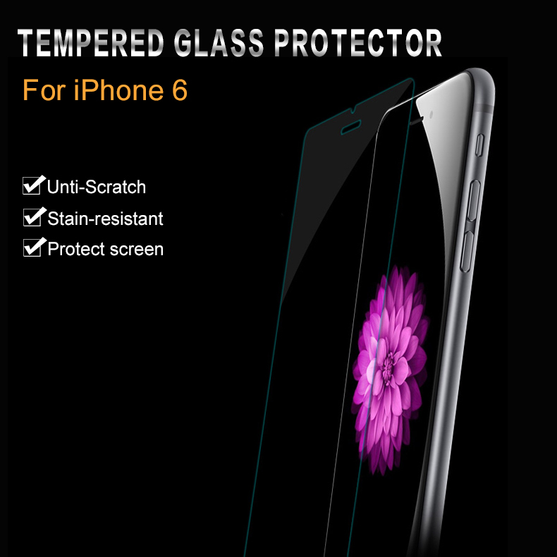 New Arrival ultra thin 0.3mm premium Tempered Glass screen protector for iPhone 6 4.7'' Explosion Proof Film for Iphone6 i6 Top