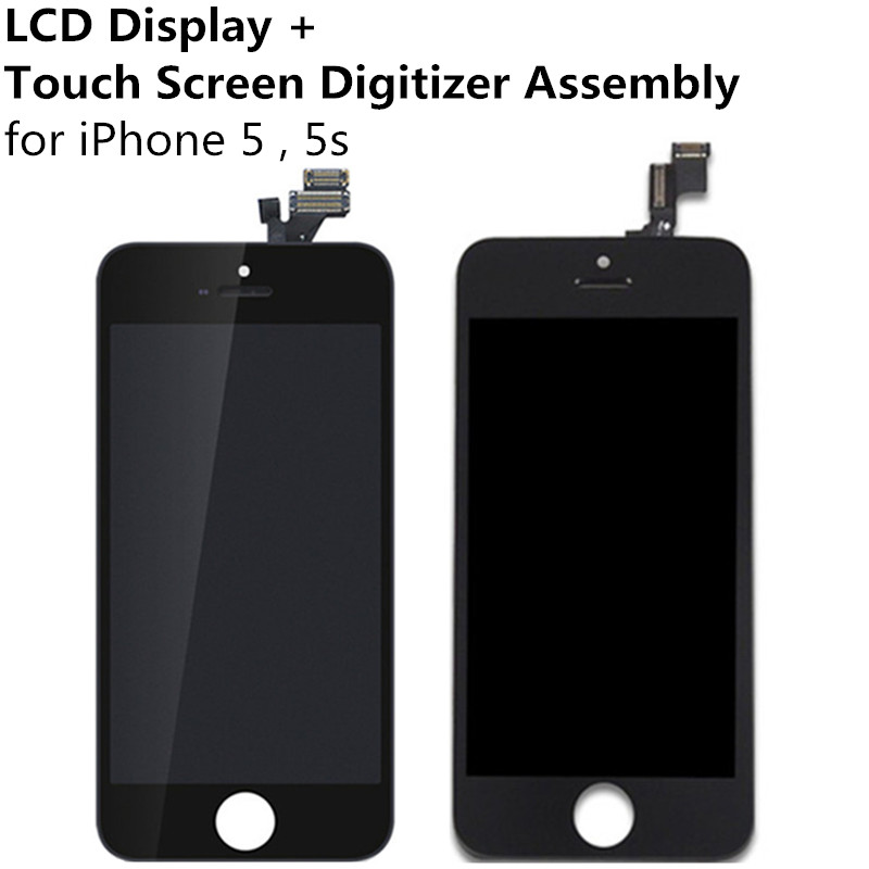 LCD display + Touch Screen Digitizer Touch Panel Assembly iPhone 5 5g 5s Display Replacement Tool Kit TouchScreen Glass