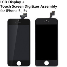 Buy LCD display + Touch Screen Digitizer Touch Panel Assembly iPhone 5 5g 5s Display Replacement Tool Kit TouchScreen Glass for $19.98 in AliExpress store