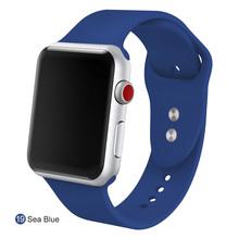 Спортивный мягкий силиконовый сменный ремешок 38 мм от   mu sen для Apple Watch версии 1, 2, ремешок 42 мм на запястье, ремешок для iWatch Sport(China)