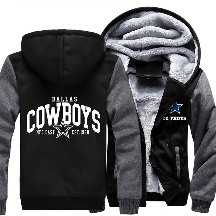 Wholesale Price Fashion Dallas Winter Autumn Women Men's Hoodie Cowboys Zipper Jacket Casual Sweatshirts Clothing Sportwear(China (Mainland))