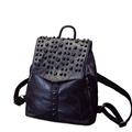Women Genuine Leather Backpack Designer Preppy Style Simple Travel Bag Fashion Solid Color Patchwork Sheepskin Drawstring