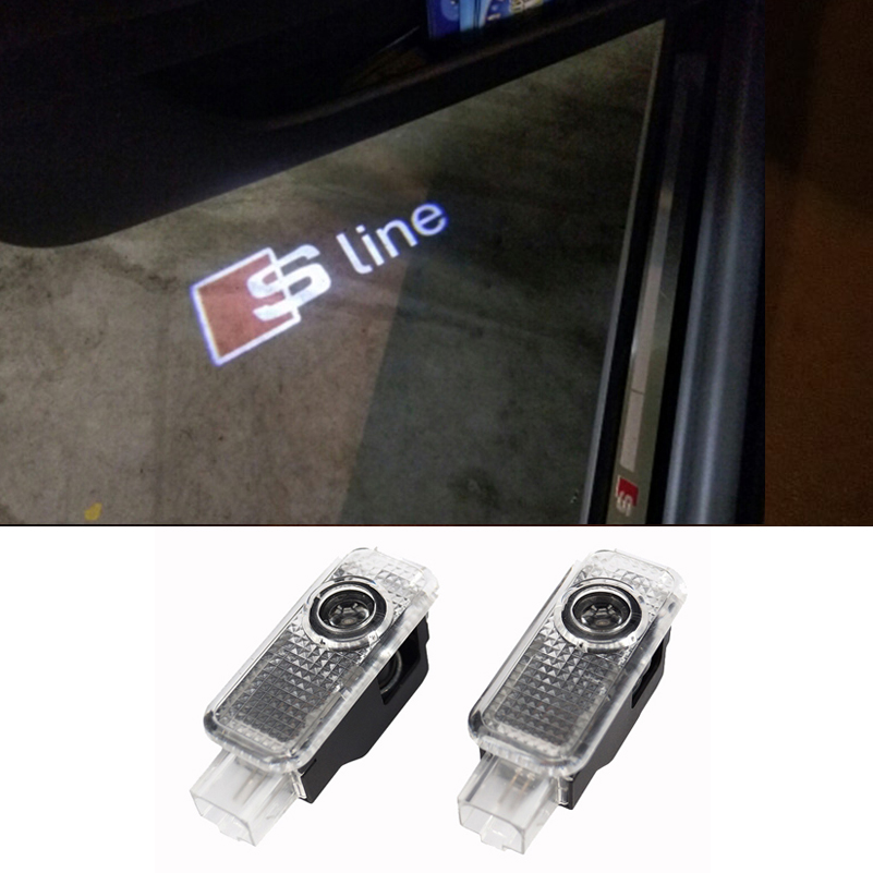 LED Car Door Welcome Light Laser Car Door Shadow led Projector Logo For Audi A3 A4 A5 A6 A7 A8 R8 Q5 Q7 TT S line(China (Mainland))