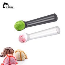 Kitchen Ice Cream Scoop Spoon Silver Black Deluxe Metal Non-Stick Anti-Freeze Kitchen Accessories