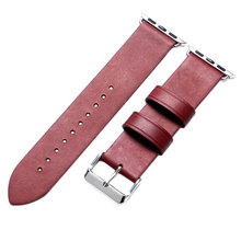 Red & Blue 38mm/42mm Width Leather Watch Strap For Apple Smart Watches High Quality Watch Band Free Shipping