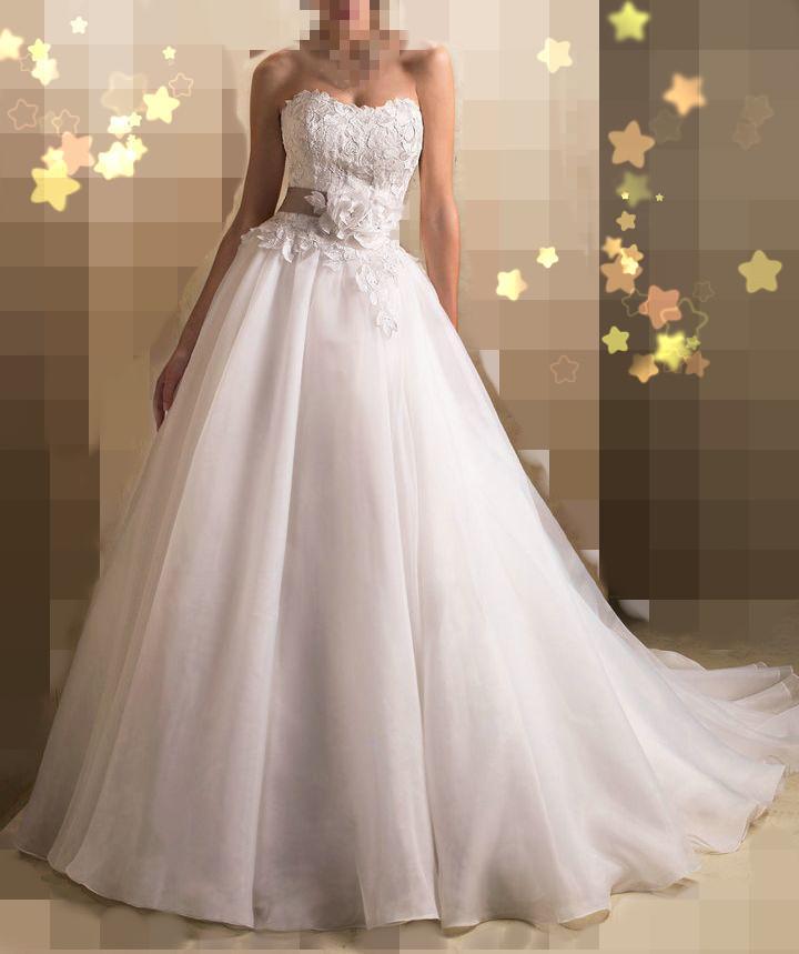 Дешевой цене 2016 бесплатная доставка А линии милая кружева свадебные платья Noiva белый кот органзы свадебное платье свадебные платья OW G3780