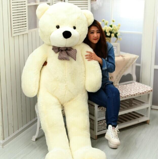 2016 New Giant 180CM/70''inch TEDDY BEAR PLUSH HUGE SOFT TOY 1.8m bear Plush Toys Valentine's Day gift 5 colours white(China (Mainland))