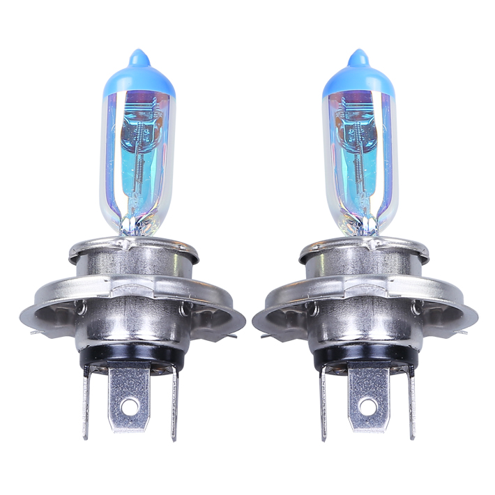 Stock Shipping Car Spare Halogen Lamp H4(P43t) 12V/55/60W For Universal Replacement Rainbow Gold Color Headlight Foglight(China (Mainland))