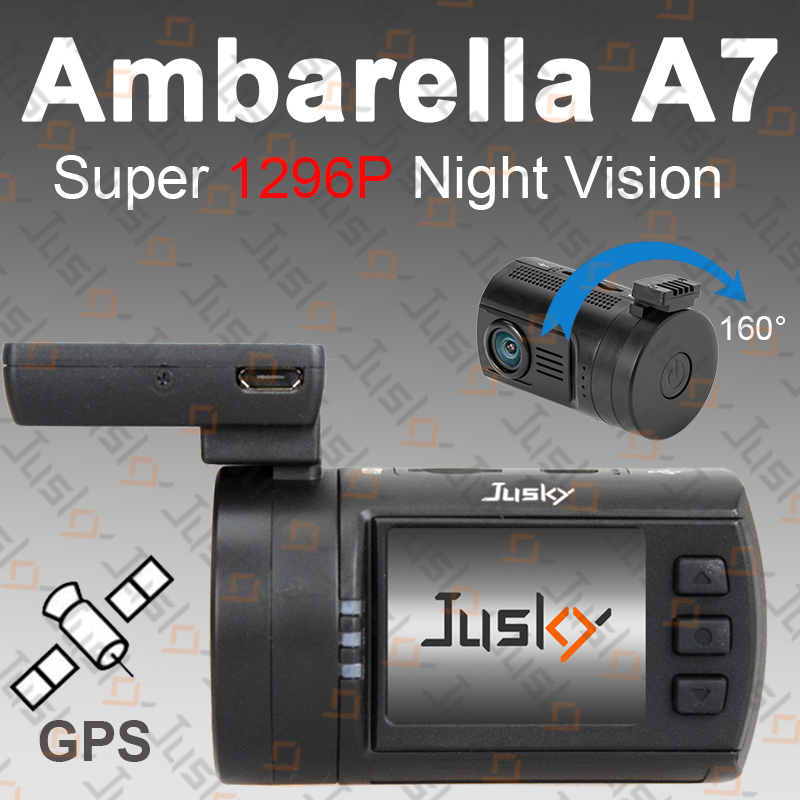 Jusky Mini 0806 Ambarella A7 A7LA50 Car Camera Super 1296P Night Vision Car DVR GPS Dash Cam Support 2*128GB TF,Motion Detection(China (Mainland))