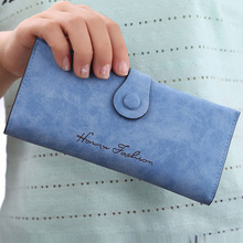 DU Fashion Sweet Women Wallets Mix Color Multifunctional Soft PU Long Lady Purse Photo Credit Card