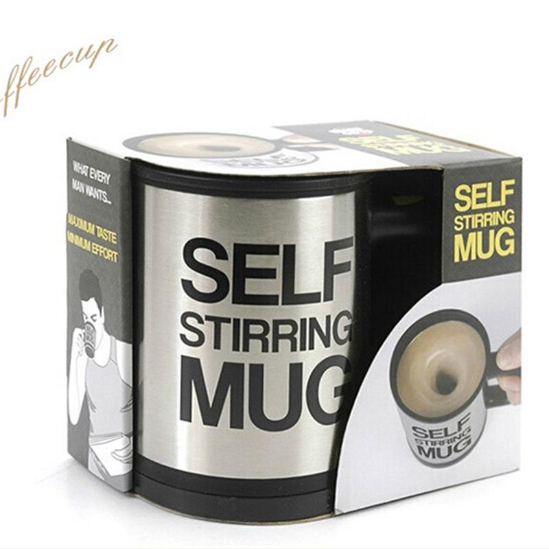 Lazy cups and mugs Self Stirring mug Electic Plain Automatic Canecas Bluw Coffee Cup Coffee Mixing Cup/mug 350ml(China (Mainland))