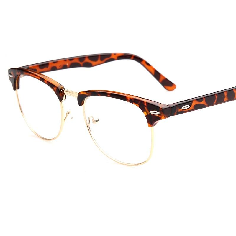 Designer Glasses Half Frame : 2016 New Designer Half Eyewear Frame Retro Men Women ...