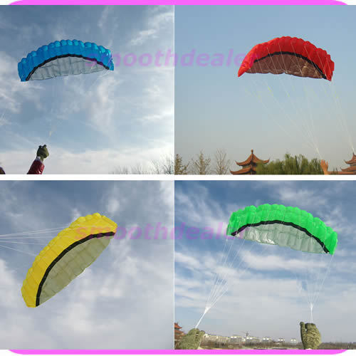 """S105""""2.5m Dual Line Parafoil Kit Power Parachute Sports Beach Kite Easy to Fly 4 Colors Available Free Shipping(China (Mainland))"""