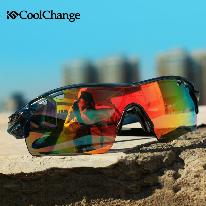 Coolchange 5 Lens Cycling Glasses 5 Color Removable Frame Decorative Cycling Sunglasses Eyewear Goggles Gafas Ciclismo(China (Mainland))
