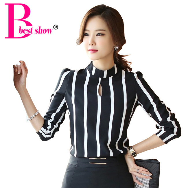 Korean Blouse Plus Size Collar Blouses