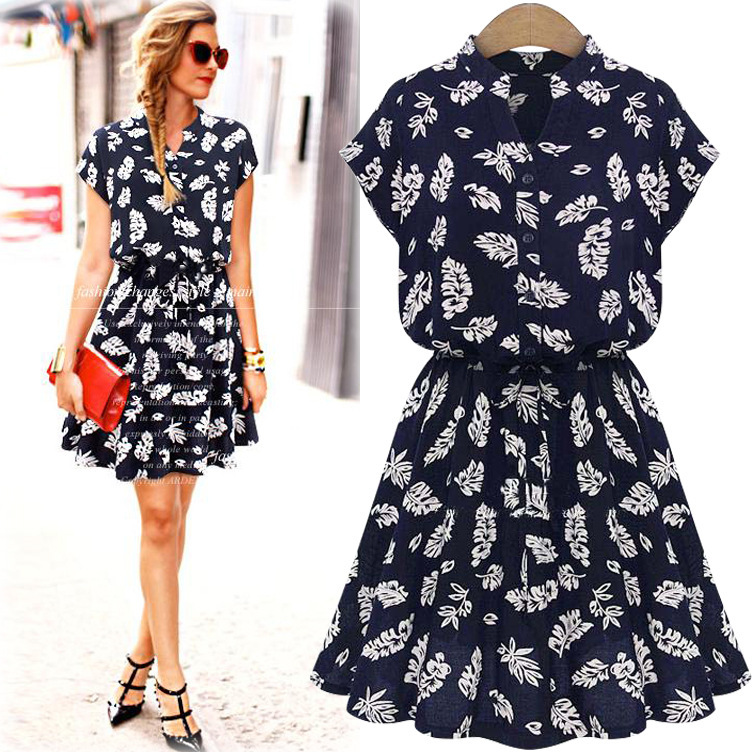 Vestidos De Fiesta Special Offer New Fashion 2015 Brand Women Party Dresses Floral Print European Style Dress Plus Size Clothing(China (Mainland))