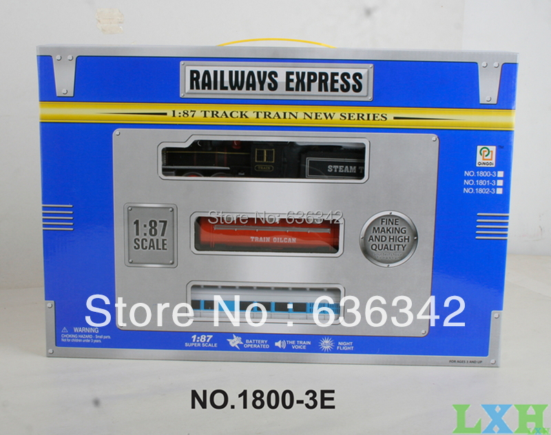 LXH Wholesale railroad train track With light and music 1:87 railway learning & education toys for children gift box(China (Mainland))