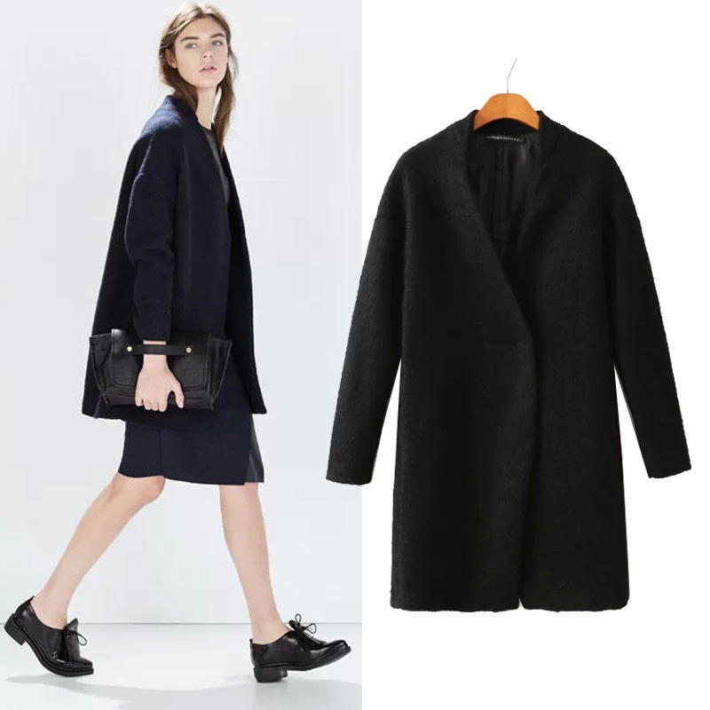 Womens Long Black Coat Promotion-Shop for Promotional Womens Long ...