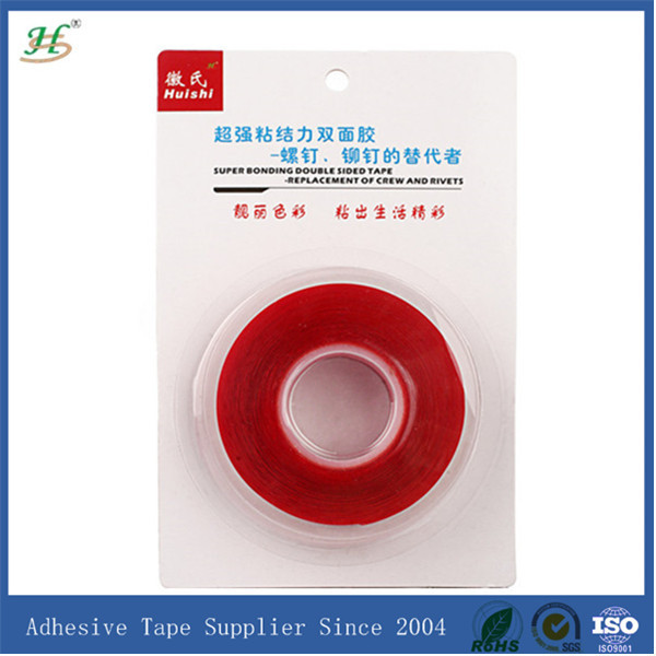 Free Shipping Strong Sticky PET Acrylic Clear Double Sided Tape for Screen, Panel, Lens, Camera Cover Uneven Surface(China (Mainland))