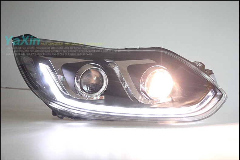 Auto Clud Style LED Head Lamp for Ford Focus 3 led headlights 2012-2014 cob signal led drl H7 hid Bi-Xenon Lens low beam