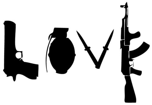 Banksy Stencil Love Weapons Mylar A4 297x210mm Wall furniture free shipping(China (Mainland))