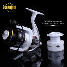 Seaknight 2015 nueva calidad CM2000-4000 14BB 5.2 : 1 Metal Spinning Reel Fishing Carp Fishing pesca rueda Spinning Reel + Spare carrete(China (Mainland))