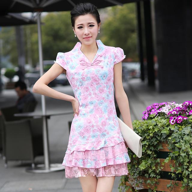 Neck cheongsam fashion summer 2013 sexy cheongsam dress g82159