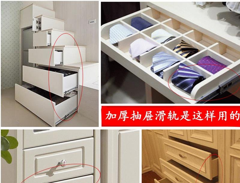 Thickened section 35 two wide keyboard drawer slide rail track cupboard drawer rails two years warranty(China (Mainland))
