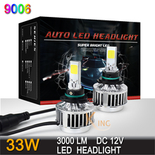 All In One LED Cree HB4 9006 Headlight Conversion Kit 33w 3000LM Headlamp Top 12v Fog Car Auto Bulb Lamp Light No Ballast(China (Mainland))
