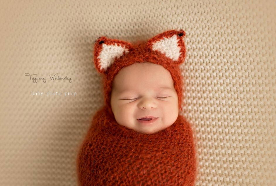 Baby Fox Hat,Baby Crochet Bonnet,Photo Props,Photography Props-in Hats ...