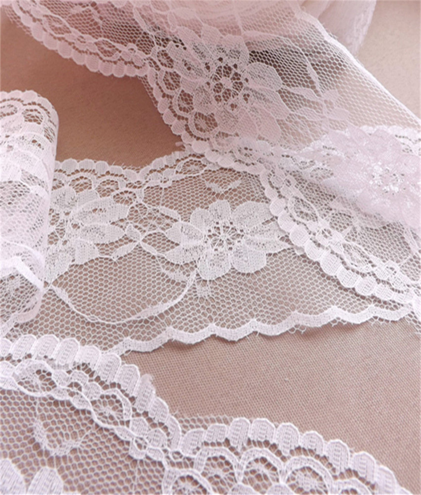 Width 65mm Beautiful 9 yards Embroidered Net Lace Trim Garment ribbon 4 colors headband wedding party