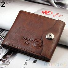 Men s Magnetic Clasp Faux Leather Bifold Card Holder Pockets Slim Purse Wallet 1QBX 4A35