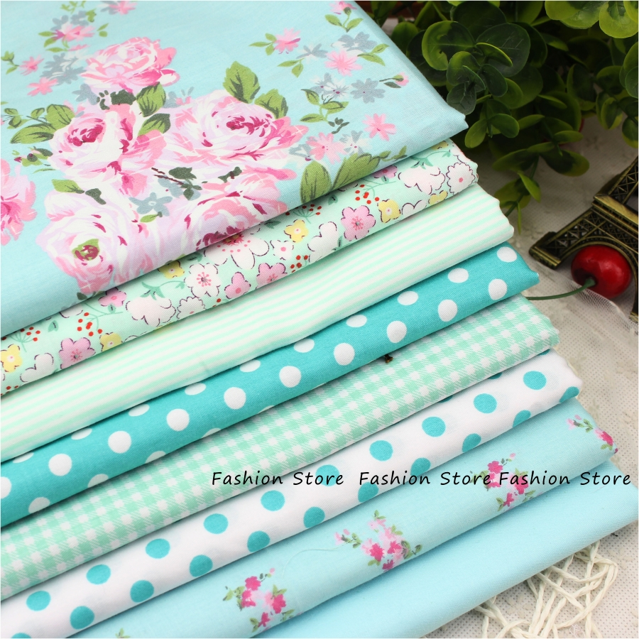 8 PCS 40cmx50cm Victoria set flower Printed cotton fabric for quilting patchwork tecido tela clothing bedding tissus(China (Mainland))