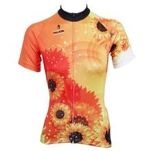 "Bike jerseys Cycling equipment Martin fox "" Sunflower "" Womens top Sleeve Cycling Jersey Bike Motorcycle Apparels Cycling Clothi(China (Mainland))"