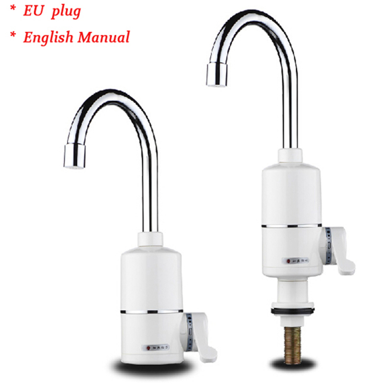 Kitchen Instant Hot Water : Electric instant hot water faucet tap tankless kitchen