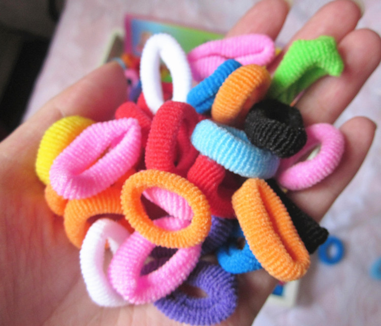 92-100pcs/lot Great Hair accessories Useful Elastic for the hair Nice Hair bands for baby women Fashion Hair band baby mix color(China (Mainland))