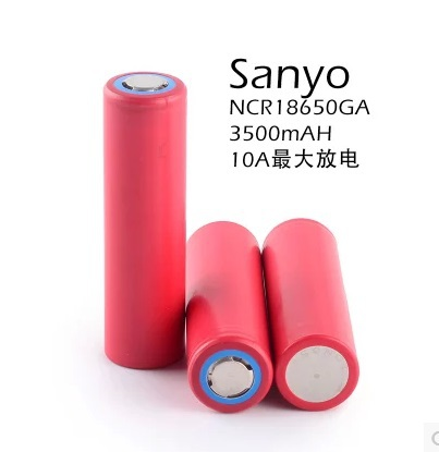 3pcs / lot New Imported Sanyo NCR18650GA 3500mAh 18650 3.7v Rechargeable lithium battery for Flashlight Btteries<br><br>Aliexpress