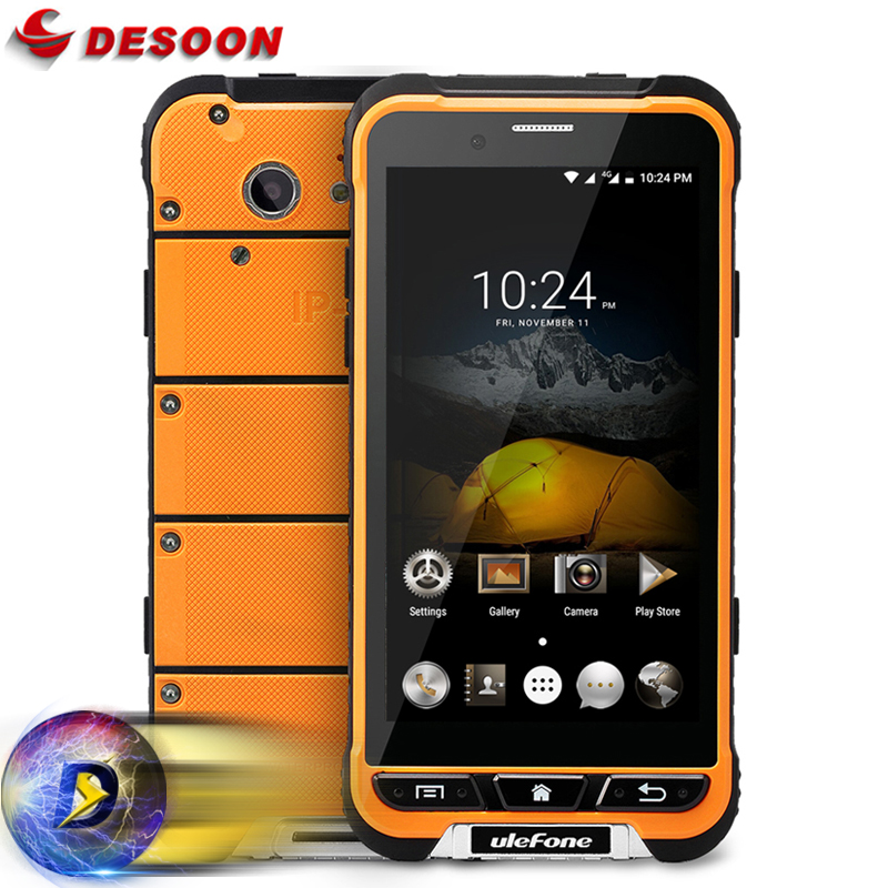 Global Network Ulefone Armor Mobile Phone Android 6.0 4G LTE MTK6753 Octa Core 3G+32G 13MP IP68 Waterproof Shockproof 3500mAh(China (Mainland))