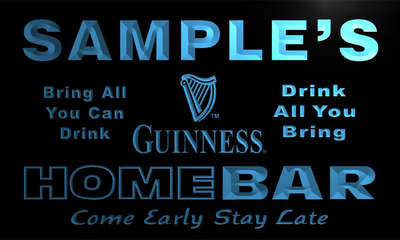 r005-tm Guinness Personalized Custom Name Home Bar Beer Neon Light Sign Wholesale Dropshipping