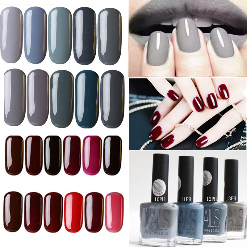 Hot Sale Matte <font><b>Nailpolish</b></font> Fashion Cheap Brand Gray Paint Quickly Dry Gel Polish Vanish Lacquer Nails Beauty
