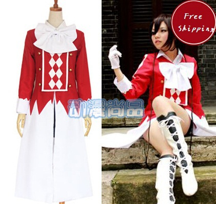 Pandora Hearts Cosplay Alice Costumes Japanese Anime Full Set (Long Coat + Shirt Black Skirt Necktie) - Your Fashion Wardrobe ! store