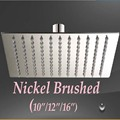 Wholesale And Retail Promotion Nickel Brushed Square Rain Shower Head 10 12 16 Shower Sprayer Top