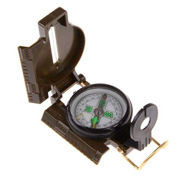 Portable Army Green Folding Lens Compass American Military Fashion Multifunction(China (Mainland))