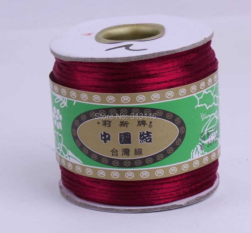 80M/Roll 1.5MM Braided Dark Red Nylon Chinese Knot Cord Macrame Beading String Thread for Handcraft Handmade Shamballa Jewelery(China (Mainland))