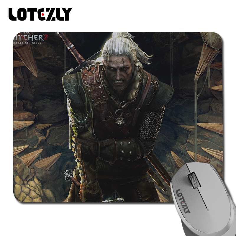 Genuine Geralt's Witcher 2 Enhanced Edition gaming mouse pad rubber / non-slip mouse pad free shipping(China (Mainland))