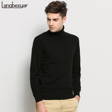 Hot 2017 New Autumn Winter Brand Clothing Sweater Men Turtleneck Slim Fit Winter Pullover Men Solid Color Knitted Sweater Men(China (Mainland))